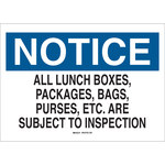 Brady B-401 High Impact Polystyrene Rectangle White Admittance Sign - 10 in Width x 7 in Height - 22133