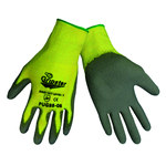 Global Glove Gripster PUG88 Gray/Yellow Large Kevlar Cut-Resistant Gloves - ANSI 2 Cut Resistance - Polyurethane Palm & Fingers Coating - PUG88/LG