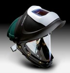 3M 9100 L-705SG Green Polycarbonate/Polyester Helmet Shell - Auto-Darkening Lens - 051135-89452