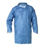 Kimberly-Clark Kleenguard A60 Blue Medium Microporous Composite Fabric Chemical-Resistant Lab Coat - 2 Pockets - 036000-45512