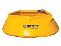 Justrite Yellow Vinyl 20 gal Portable Berm - 11 in Height - 697841-15700