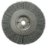 Weiler Silicon Carbide Wheel Brush 0.035 in Bristle Diameter 180 Grit - Arbor Attachment - 4 in Outside Diameter - 1/2 to 3/8 in Center Hole Size - 31114
