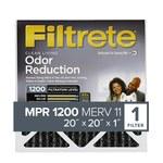 3M Filtrete Home Odor Reduction 20 in x 20 in x 1 in HOME02-4 MERV 11, 1000 MPR Air Filter - 93760