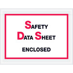 Shipping Supply Tape Logic Printed Clear SDS Envelopes - 6 1/2 in x 5 in - 2 mil Thick - SHP-13139
