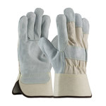 PIP 80-8800 Gray/White Large Split Cowhide Leather Work Gloves - Wing Thumb - 10.5 in Length - 80-8800/L