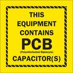 Brady 87037 Black on Yellow Vinyl Hazardous Material Label - 2 in Width - 2 in Height - B-946