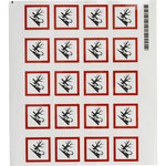 Brady 121194 White / Black / Red Diamond Polyester Chemical Hazard Label - 1.5 in Width - 1.5 in Height - B-7541