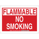 Brady B-555 Aluminum Rectangle No Smoking Sign - 10 in Width x 7 in Height - 127980