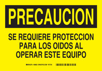 Brady B-401 Polystyrene Rectangle Yellow Equipment Safety Sign - 10 in Width x 7 in Height - Language Spanish - 38822