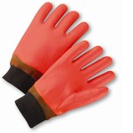 West Chester Orange Large PVC Chemical-Resistant Gloves - Smooth Finish - 1007OR