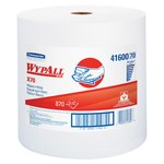 Kimberly-Clark Wypall X70 White Hydroknit Wiper - Roll - 870 sheets per roll - 13.4 in Overall Length - 12.5 in Width - 41600