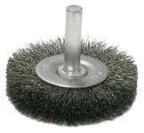 Weiler Steel Radial Bristle Brush - 2 in Outside Diameter - 0.006 in Bristle Diameter - 17954