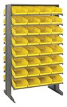 Quantum Storage 800 lbs Yellow Gray Steel Double Sided Louvered Floor Rack - 24 in Overall Length - 36 in Width - 60 in Height - 64 - 02343