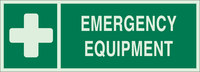 Brady Bradyglo B-347 Polyester / Polystyrene Rectangle Green First Aid Sign - 14 in Width x 5 in Height - Glow in the Dark - 90926