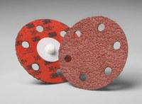 3M Cubitron II 984F Coated Ceramic Aluminum Oxide Orange Quick Change Disc - Cloth Backing - YF Weight - 80 Grit - Medium - 3 in Diameter - 28081