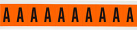 Brady 6560-A Black on Orange Vinyl Letter Label - Indoor / Outdoor - 7/8 in Width - 1 1/2 in Height - 1 in Character Height - B-946