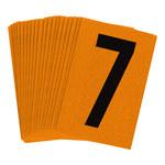 Brady Bradylite 5910-7 Black on Orange Number Label - Outdoor - 1 in Width - 1 1/2 in Height - 1 in Character Height - B-997
