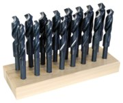 Chicago-Latrobe 190 Reduced Shank Drill Set - Radial 118° Point - Spiral Flute - Right Hand Cut - High-Speed Steel - 69890