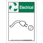 Brady B-555 Aluminum Rectangle White Environment Sign - 7 in Width x 10 in Height - 129375
