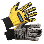 Impacto Dryrigger WGWINRIGG Black/Yellow 3XL Kevlar/TPR Work Gloves - Nitrile/PVC Dotted Palm & Fingers Coating - WGWINRIGGXXXL