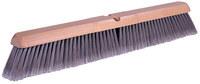 Weiler 448 Push Broom Kit - Hardwood 60 in Handle - Silver Polystyrene Fine 3 in Bristle - 18 in Hardwood Block - 44857