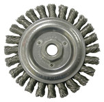 Weiler Steel Wheel Brush 0.023 in Bristle Diameter - Arbor Attachment - 5 in Outside Diameter - 09856