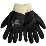 Global Glove 700R Black XL Jersey/PVC Work Gloves - Rough Finish - 700R/XL