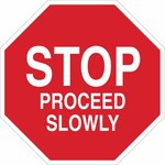 Brady B-555 Aluminum Octagon Red Stop Signs, Traffic Control Signs & Banners Sign - 18 in Width x 18 in Height - 124514