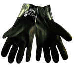 Global Glove 710R Black XL Jersey/PVC Work Gloves - 10 in Length - Rough Finish - 710R/XL
