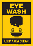 Brady B-401 Polystyrene Eyewash Sign - 122500