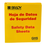 Brady Red on Yellow MSDS & GHS Data Sheet Binder - SAFETY DATA SHEETS - English/Spanish - 754473-70692