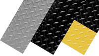 Notrax Diamond Plate Runner 737 Black Vinyl Diamond-Plate Anti-Slip Runner - 2 ft Width - 75 ft Length - 737 2 X 75 BLK