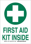 Brady B-555 Aluminum Rectangle First Aid Sign - 7 in Width x 10 in Height - 123749