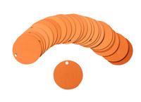 Brady 87611 Orange Circle Aluminum Blank Valve Tag - 2 in Dia. Width - B-906