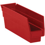 Red Shelf Bins - 11.625 in x 2.75 in x 4 in - SHP-3094