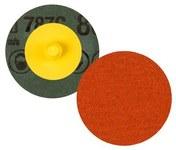 3M Roloc 787C Ceramic Orange Quick Change Fibre Disc - Fibre Backing - 80+ Grit - 4 in Diameter - 89701