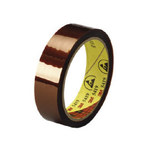 3M Amber Insulating Tape - 1/2 in Width x 36 yd Length - 1 mil Thick - Electrically Insulating - 60276