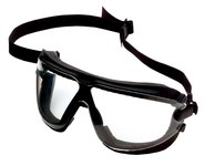 3M GoggleGear 16617-00000-10 Medium Polycarbonate Safety Goggles Clear Lens - Black Frame - Non-Vented - 078371-62330