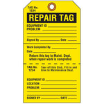 Brady 103666 Black on Yellow Cardstock Maintenance Tag - 4 in Width - 7 in Height - 19356