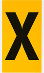 Brady 15 Series 1570-X Black on Yellow Vinyl Letter Label - Indoor / Outdoor - 5 in Width - 9 in Height - 6 in Character Height - B-946