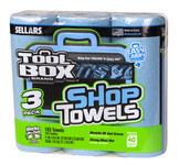 Sellars Toolbox Blue 55 Shop Towels - SELLARS 54483