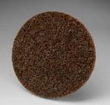 3M Scotch-Brite SL-DR Non-Woven Aluminum Oxide Maroon Quick Change Disc - Coarse - 3 in Diameter - 33792