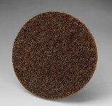 3M Scotch-Brite SL-DR Non-Woven Aluminum Oxide Black Quick Change Disc - Coarse - 4 in Diameter - 33819