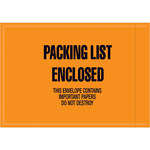 "Orange Mil-Spec ""Packing List Enclosed"" Envelope - 6 in x 4 1/2 in - SHP-10118"