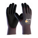 PIP MaxiDry 56-424 Black/Purple Large Lycra/Nylon Work Gloves - EN 388 1 Cut Resistance - Nitrile Palm & Fingers Coating - 9.8 in Length - 56-424/L