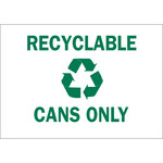 Brady B-302 Polyester Rectangle White Recycle Sign - 10 in Width x 7 in Height - Laminated - 86011