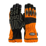 PIP AutoX Plus 911-AX9 Black/Orange Large Kevlar/Polyurethane Work Gloves - Synthetic Fingertips Coating - 10.8 in Length - 911-AX9P/L