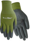 Red Steer Eco-Fiber 1153 Black/Green Large Bamboo Work Gloves - Nitrile Palm Only Coating - Smooth Finish - 1153-L