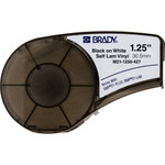 Brady M21-1250-427 Black on White Vinyl Continuous Thermal Transfer Printer Label Cartridge - 1 1/4 in Width - 14 ft Length - B-427
