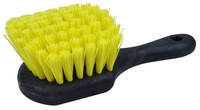 Weiler Green Works 423 Utility Scrub Brush - Bamboo Handle - Yellow Polyethylene Terephthalate Bristle - Foam Block - 42375